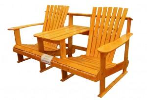 Желтая скамейка